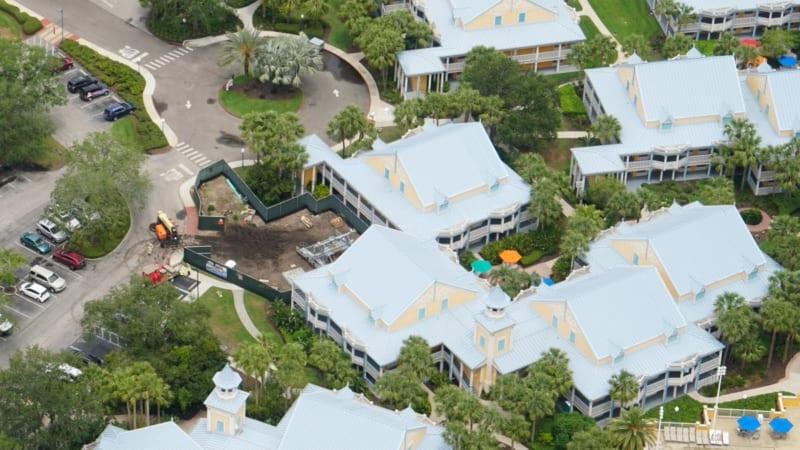 Disney Skyliner Construction Update May 2018 Caribbean Beach new tower