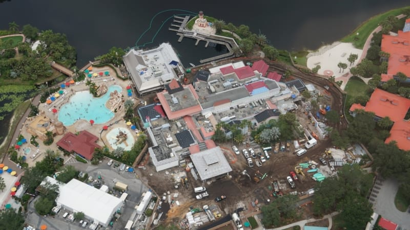 Disney Skyliner Construction Update May 2018 Caribbean Beach station Old Port Royale progress