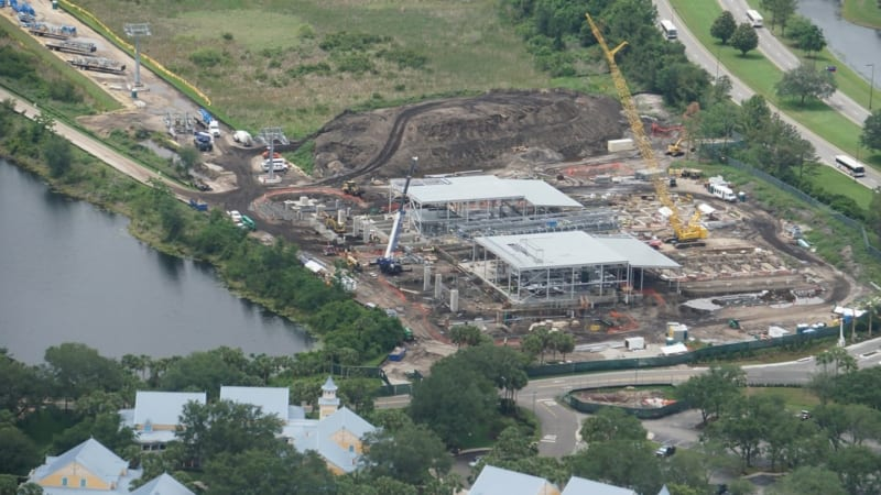 Disney Skyliner Construction Update May 2018 Caribbean Beach station now