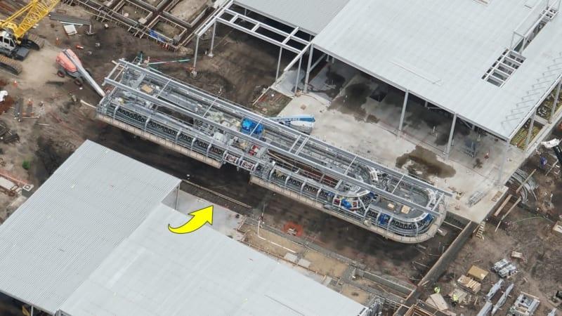 Disney Skyliner Construction Update May 2018 Caribbean Beach station landing system