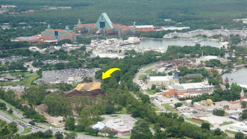 Disney Skyliner Construction Update May 2018 land clearing behind Epcot