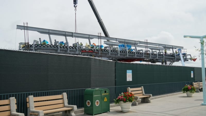 Disney Skyliner Construction Update May 2018 Hollywood Studios station from the ground