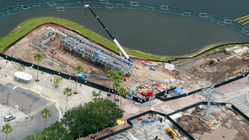 Disney Skyliner Construction Update May 2018 Hollywood Studios Aerial shot