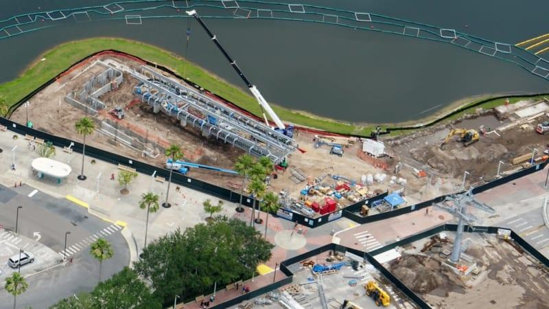 Disney Skyliner Construction Update May 2018 Hollywood Studios Aerial shot