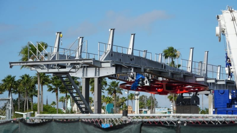 Disney Skyliner Bull Wheel Installed in Hollywood Studios