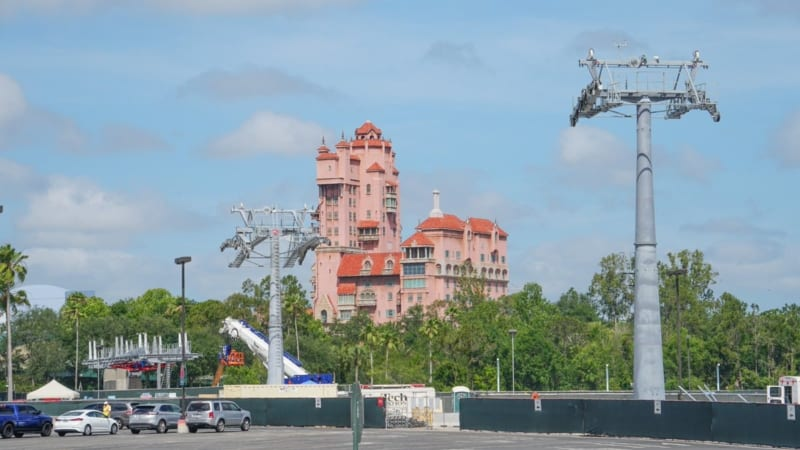 Disney Skyliner Tower of Terror view in Hollywood Studios