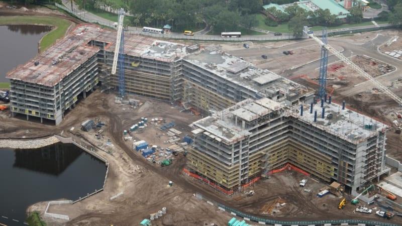 Disney Skyliner Construction Update May 2018 Riviera Resort Aerial shot