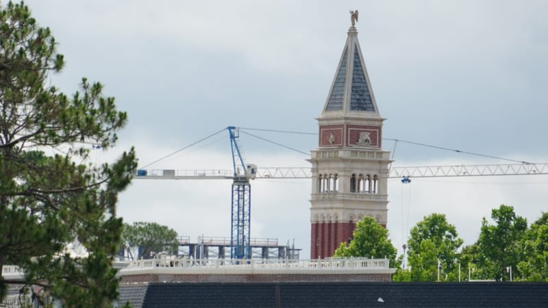 Disney Skyliner Construction Update May 2018 Riviera construction behind Epcot