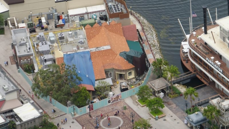 Construction for Pedestrian Bridge Starts in Disney Springs terralina