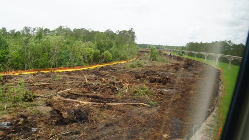 Land Clearing for Epcot Hotel Support Area Started from monorail