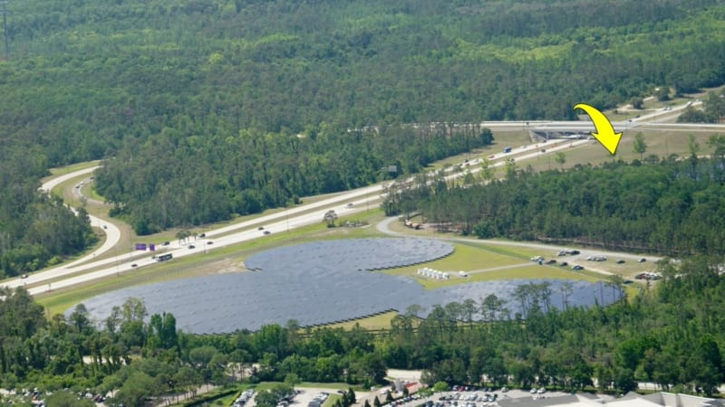Land Clearing for Epcot Hotel Support Area Started mickey solar farm