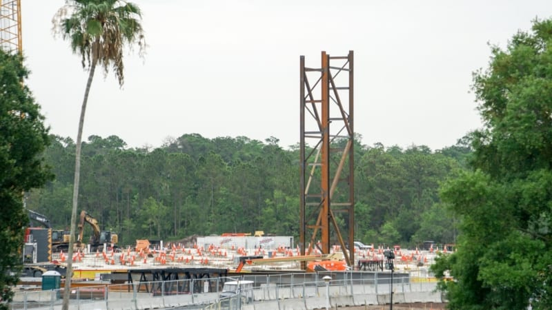 PHOTOS: First Steel Frame for Guardians of the Galaxy Coaster Rises Up