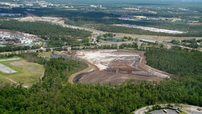 Hollywood Studios Parking Lot Construction Update May 2018 excavation pile