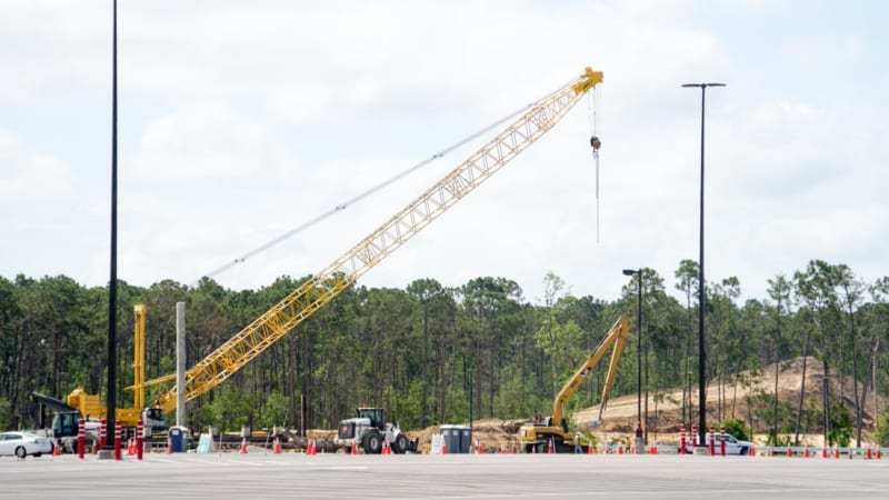 Hollywood Studios Parking Lot Construction Update May 2018 exit ramp
