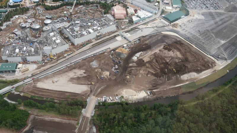 Hollywood Studios Parking Lot Construction Update May 2018 mystery section