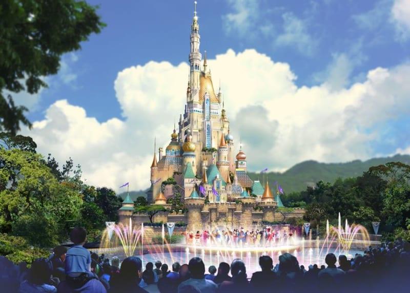 Frozen Roller Coaster Coming to Hong Kong Disneyland new castle concept art