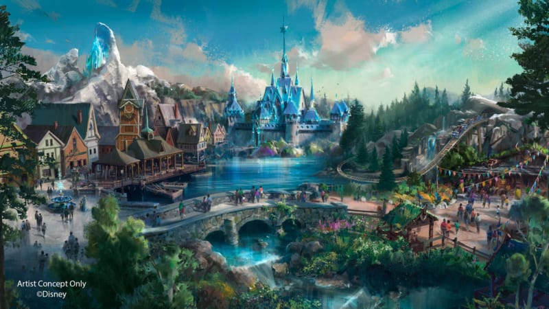 Frozen Roller Coaster Coming to Hong Kong Disneyland as Part of Multi-Year Expansion