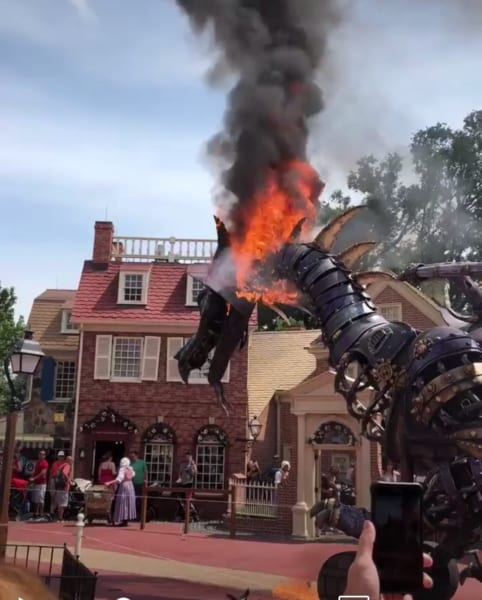 Maleficent Float Catches Fire During Magic Kingdom Parade