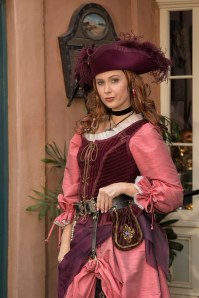 Pirates of the Caribbean 'Redd' Character Coming to Disneyland posing in New Orleans Square