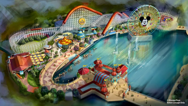 Pixar Pier Premiere Event for Opening Disney California Adventure concept art
