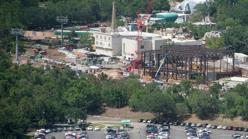 Ratatouille Attraction Building Gets Bigger as Steel Rises back angle