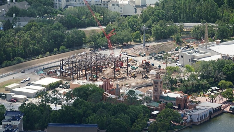 Ratatouille Attraction Building Gets Bigger as Steel Rises