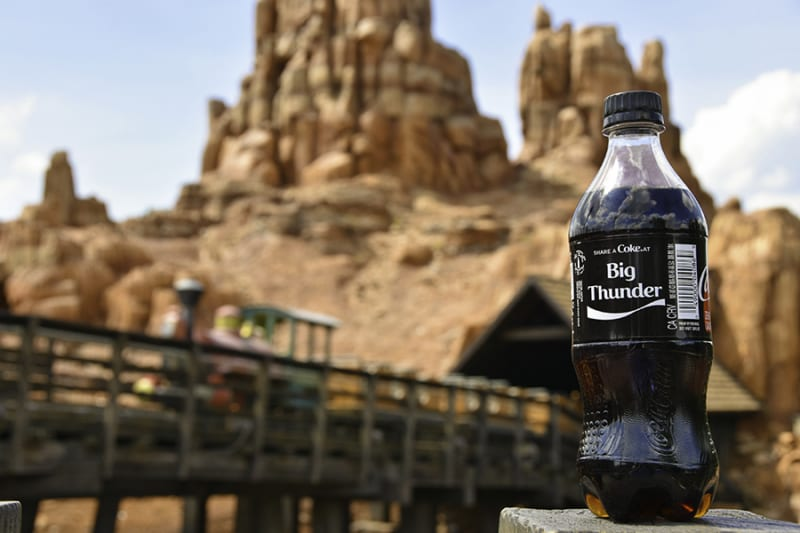 New share a Coke Bottles Arrive in Disney Parks big thunder mountain