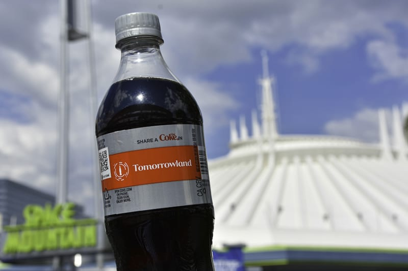 New share a Coke Bottles Arrive in Disney Parks tomorrowland