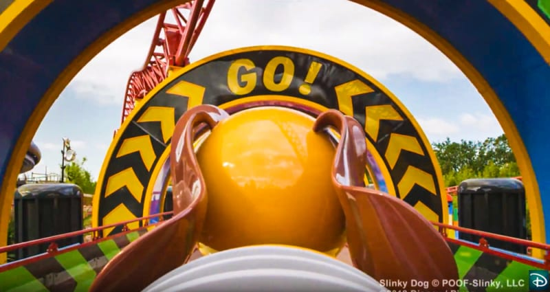 Slinky Dog Dash POV ride