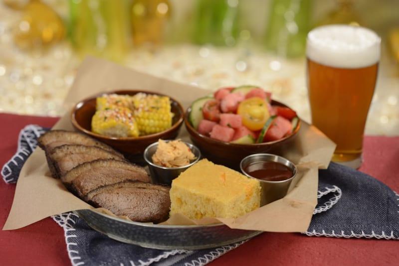 New Menu at The Diamond Horseshoe Restaurant brisket platter
