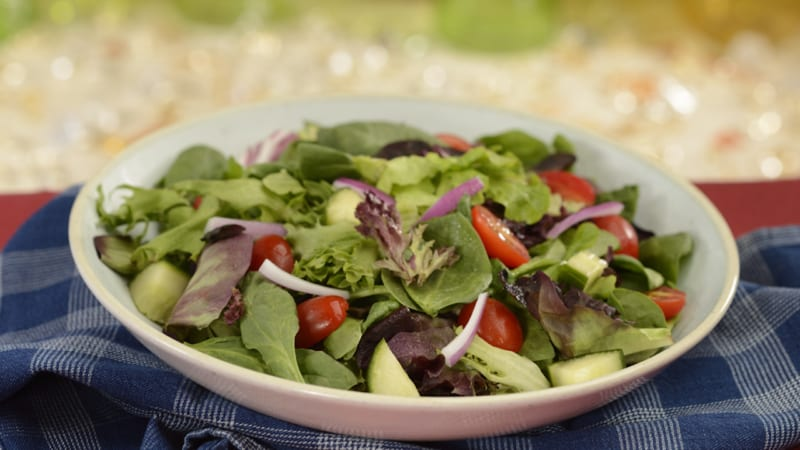 New Menu at The Diamond Horseshoe Restaurant salad