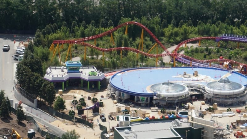 Toy Story Land Construction Update May 2018 Alien Swirling Saucers