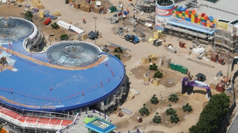 Toy Story Land Construction Update May 2018 Alien Swirling Saucers queue