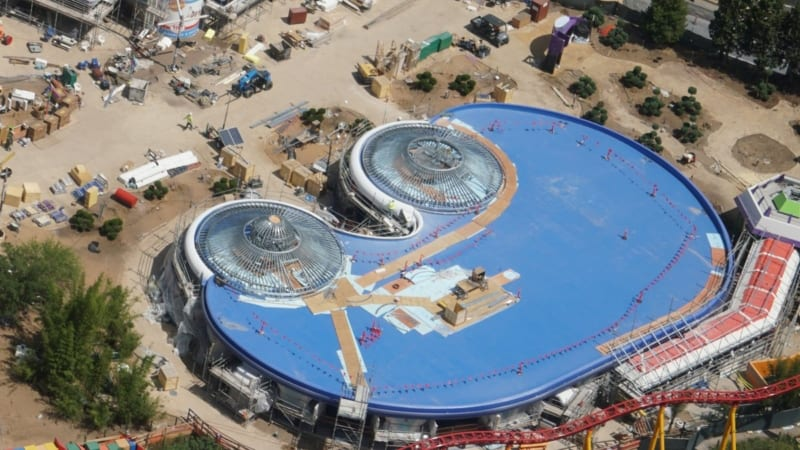 Toy Story Land Construction Update May 2018 Alien Swirling Saucers roof