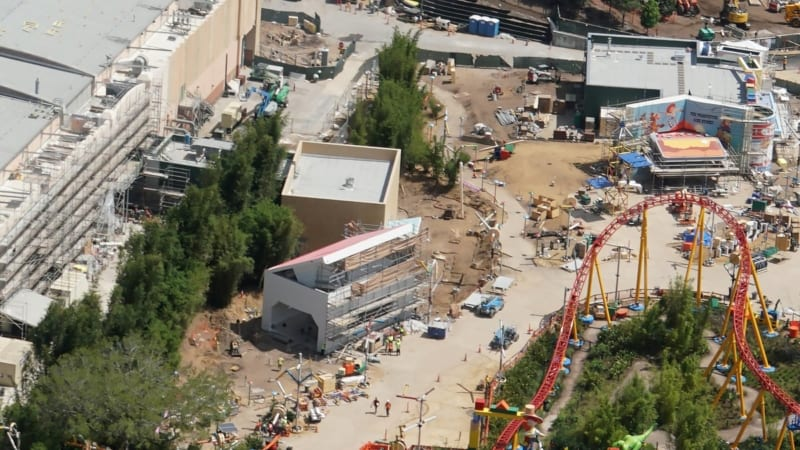 Toy Story Land Construction Update May 2018 Midway Mania queue