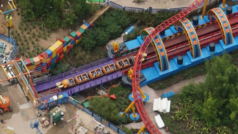 Slinky Dog Dash Testing 3 Trains with weights