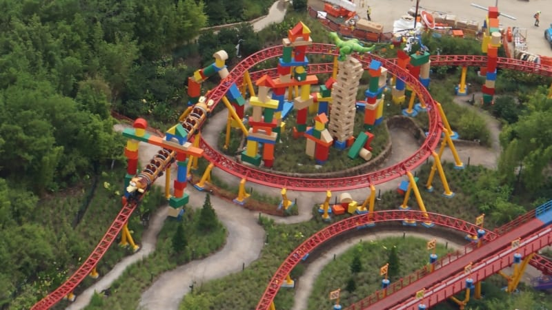 Slinky Dog Dash Testing 3 Trains in Latest Toy Story Land Update rex and jessie