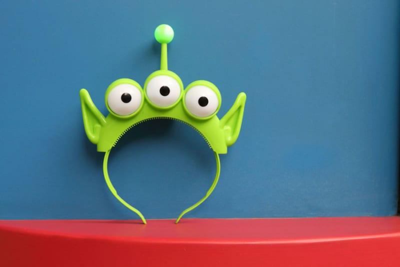 First look Toy Story Land Merchandise alien eyes headband