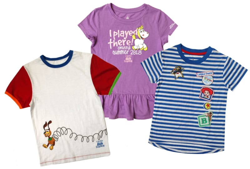 First look Toy Story Land Merchandise kids' t-shirts