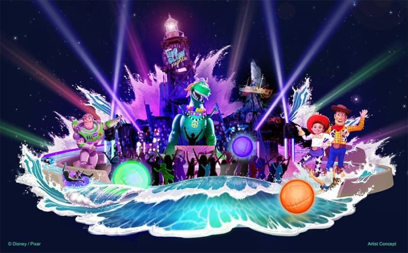 New Concept Art for Typhoon Lagoon's Disney H2O Glow Nights