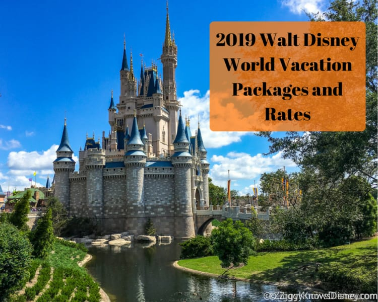 2019 Walt Disney World Vacation Packages and Rates Now Available!