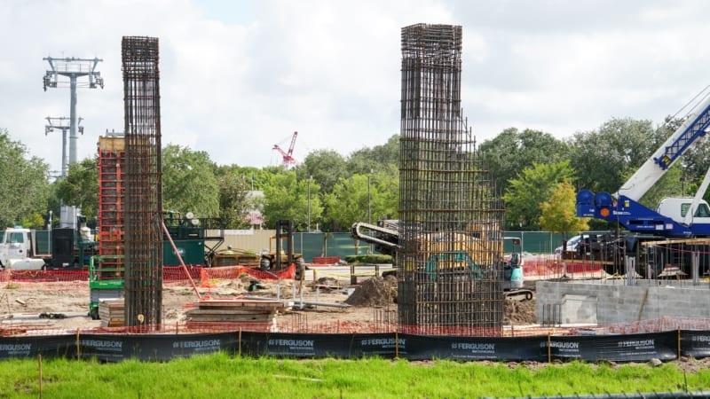 Disney Skyliner Epcot Turn Station concrete and rebar