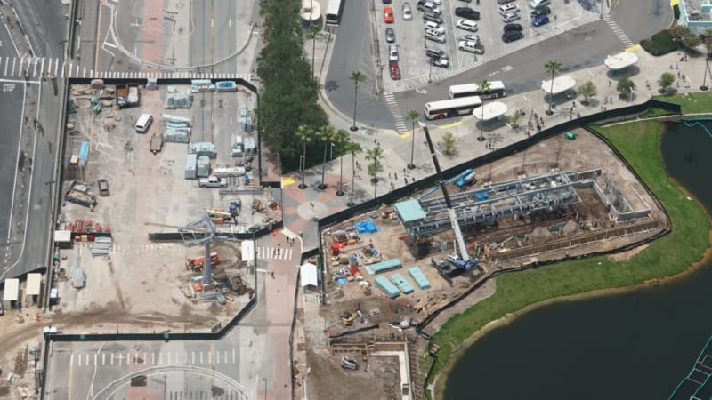 Roof Added to Disney Skyliner Station in Hollywood Studios aerial