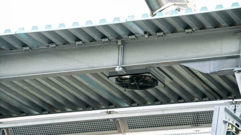 Roof Added to Disney Skyliner Station in Hollywood Studios ventilation system