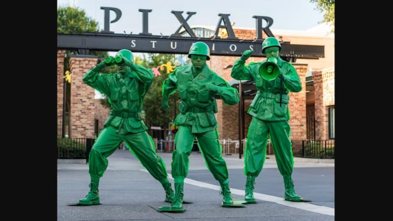 green army men coming Toy Story Land