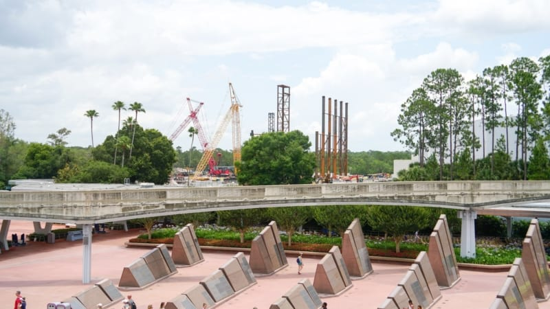 Guardians of the Galaxy Coaster from monorail