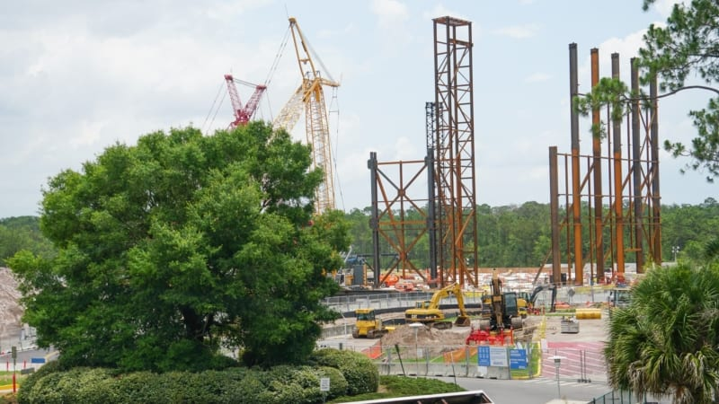 Guardians of the Galaxy Coaster Roof and steel frame