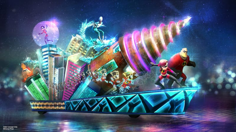 New Incredibles Float Coming to Paint the Night Parade in Disney California Adventure Park