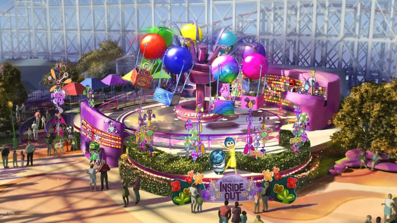 Inside Out Emotional Whirlwind! Coming to Pixar Pier in 2019