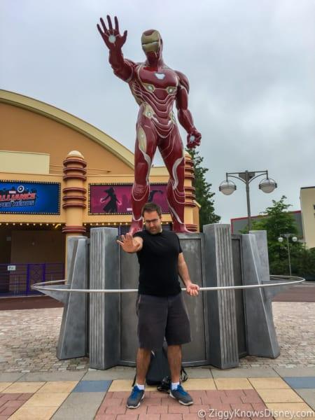 Marvel Statues arrive Marvel Summer of Super Heroes Walt Disney Studios Park my Iron Man imitation